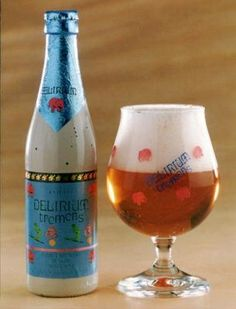 Delirium Tremens beer     Colour and sight: pale blond, the fine and regular effervesce ensures a fine and stable head.   Scent: Slightly malty, a nice touch of alcohol, spicy.  Flavour: Feels like the sound shot of alcohol is igniting the mouth. In reality the tongue and palate are warmed. The taste is characterized by its roundness. The aftertaste is strong, long-lasting and dry bitter.