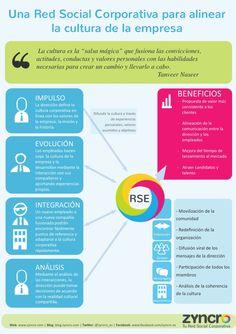 Una Red Social Corporativa para alinear la cultura de tu empresa, una #infografia de @mattpinauldt en @Zyncro_ES