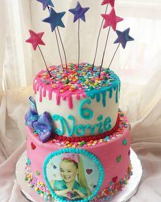 Jojo Siwa Birthday Cake, Candy Theme Birthday Party, 6th Birthday Parties, 8th Birthday, Birthday Ideas, Buttercream Birthday Cake, Birthday Cupcakes, Diy Cake, Cake Creations