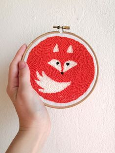 Fox embroidery pattern Modern punch needle embroidery PDF Hoop art Forest animal Hand embroidery – Rug making Embroidery Hoop Nursery, Embroidery Hoop Crafts, Butterfly Embroidery, Embroidery Bags, Modern Embroidery, Hand Embroidery Patterns, Cross Stitch Embroidery, Embroidery Designs, Etsy Embroidery