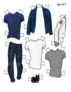 DANIELLE MEDER SS14 Menswear Paper Doll –  TOM FORD and BALMAIN   2