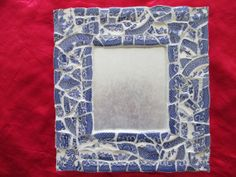 Blue Willow mosaic mirror made with vintage by bycaroleofcourse, $39.00