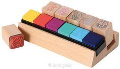 Holz-Lehrer-Stempel 6er-Set 110753