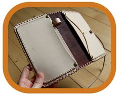 Travel Organizer Wallet – Dark Brown Leather - Passport Cover – Travel Documents and Notebook Holder - Handcrafted – Hand tooled – Rustic Leather Tooling, Leather Bags, Leather And Lace, Leather Craft, Tan Leather, Leather Wallet, Festival Accessories, Travel Organization, Passport Cover