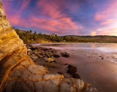 Refugio State Beach at sunset in California. Picture: Marc Muench / Barcroft Media...to find out more about Channel Coast State Parks, please visit www.friendsofccsp.org