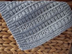 "Ravelry: ""All Washed Up"" dishcloth knitting pattern with cotton yarn"