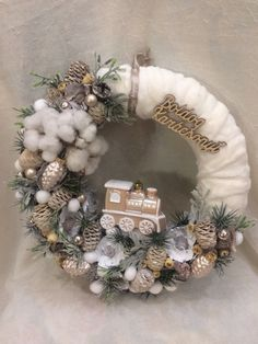 Christmas Advent Wreath, Christmas Crafts For Kids, Xmas Crafts, All Things Christmas, Winter Christmas, Christmas Time, Christmas Decorations, Christmas Villages, Wreath Crafts