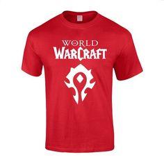 World of Warcraft Horde Red Symbols Cotton Tee Shirt for Men | Amazon.com