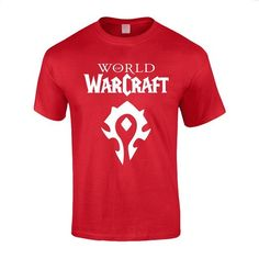 World of Warcraft Horde Red Symbols Cotton Tee Shirt for Men | Amazon.com