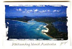 Whitehaven Beach Australia        Jigsaw-card 108