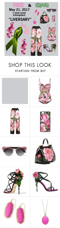 """""""Pink & Green"""" by dobesht ❤ liked on Polyvore featuring Hush, Dolce&Gabbana and Kendra Scott"""