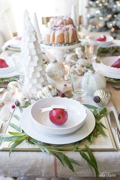 Christmas Tablescape   Farmhouse Holiday Series