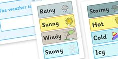 A lovely display poster allowing your children to display today's weather! Primary Resources, Teaching Resources, Weather Display, Todays Weather, First Grade Classroom, Classroom Inspiration, Classroom Management, School Stuff, Weather Calendar