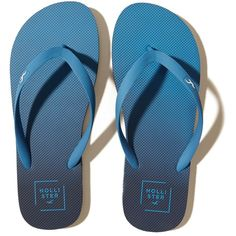 Hollister Rubber Icon Flip Flop ($16) ❤ liked on Polyvore featuring men's fashion, men's shoes, men's sandals, men's flip flops, blue, mens rubber shoes, mens leopard print shoes, mens rubber flip flops and mens blue shoes