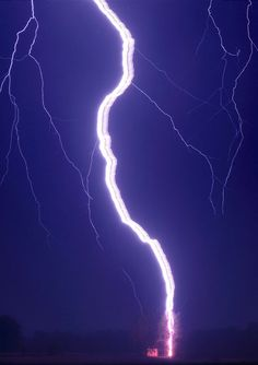 Ribbon Lightning by Przemyslaw Wielicki/National: During thunderstorms with multiple strikes, cross winds blow successive strikes laterally causing a ribbon-like effect. via wikipedia http://tinyurl.com/lmsmb  #Photography #Przemyslaw_Wielicki #Lighting #Weather