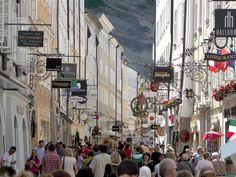 Old city shopping street Salzburg