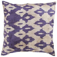 Uzbek Velvet Ikat Purple