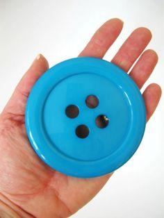 JUMBO Buttons - Teal Button - 83mm - £2.00