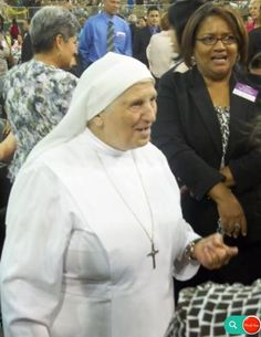 A catholic nun attending a Jehovah's Witness convention. Do not be afraid of questioning your faith. The bible tells us to test our faith to see if what we are being taught originates from the bible. 1 John 4:1