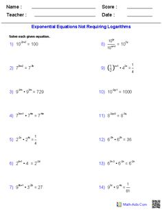 Worksheet Inverse Functions Worksheet algebra 2 worksheets and on pinterest these generators allow you to produce unlimited numbers of dynamically created exponential logarithmic functions worksheets