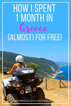 How I Spent 1 Month In Greece (Almost) For Free!