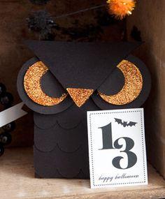Mini Halloween Owl Treat Boxes