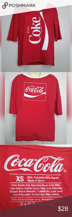adf8af60742 Shop Women s Coca Cola Red White size XS Tops at a discounted price at  Poshmark. Description  Red and white Coca Cola shirt.