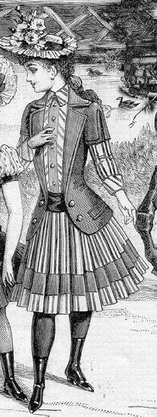 Jacket-bodice for an 8 year old girl, El Salon de la Moda- 1889, Spain