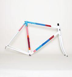 Parra x Colossi bike frame set - white