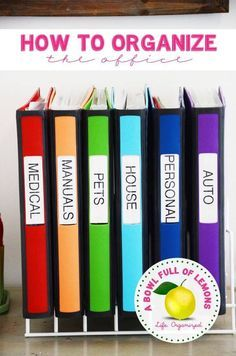 Color keyed office binders for home papers