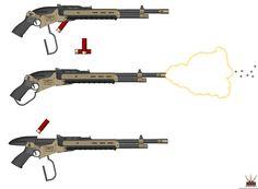 HAC Lever-Action Shotgun Mk-2 'Bonecrusher' by Lugnut1995.deviantart.com on @DeviantArt