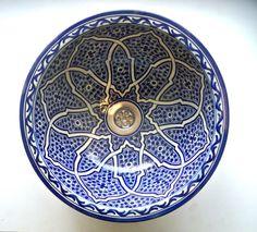 "Moroccan wash basin Sink recessed ceramic, bathroom sink, hand washing sin 14'"" in Home, Furniture & DIY, Bath, Sinks | eBay"