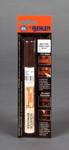 TOUCH-UP MARKER  Touch up markers are as easy as writing. It permanently stains wood, it refinishes worn out spots and scratches on furniture, wall paneling, leather, vinyl, picture and mirror frames. Dries instantly! (Click the link to access colors, training videos and step-by-step instructions for this product!)