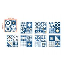 Smart Tiles Vintage Azur
