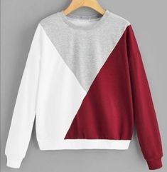 Shop Cut-and-Sew Round Neck Sweatshirt online. SHEIN offers Cut-and-Sew Round Neck Sweatshirt & more to fit your fashionable needs. Casual Fall Outfits, Cute Outfits, Sweatshirts Online, Sweatshirts Vintage, Hoodies, Clothing Items, Custom Clothes, Bunt, Sweatpants Outfit