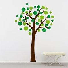 Circle tree for kindergarten classroom. Change out circles for seasons?