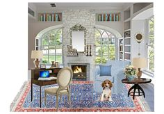 English Country Home Study by mirellaparer | Olioboard