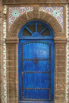 Blue door. Morocco