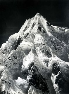 """Regarded as one of the finest mountain photographer ever, Vittorio Sella travelled the world to immortalize on film peaks and mounts that for the most part hadn't been previously recorded. The aesthetic quality of his photographs prompted Ansel Adams to comment """"the vastness of the subjects and the purity of Sella's interpretations move the spectator to a definitely religious awe. In Sella's photographs there is no faked grandeur; rather there is understatement, caution, and truthful…"""