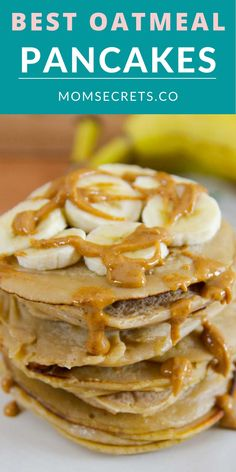 Easy and perfect for breakfast, these Oatmeal Pancakes are gluten-free, dairy-free, and sugar-free. They can be ready in just 10 minutes! #healthybreakfast #pancakes #oatmeal