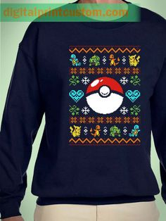 Pokemon Pokeball Christmas sweater