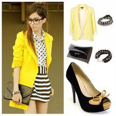 saco amarillo combinar ♥