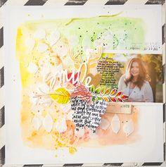 SMILE scrapbook layout by Wilna Furstenberg