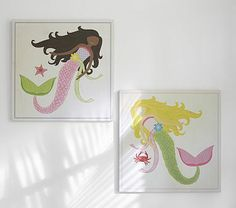 Mermaid Plaques #PotteryBarnKids