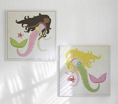 Mermaid Plaques #PotteryBarnKids