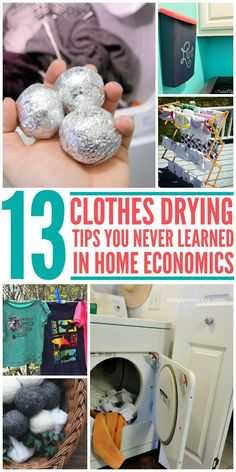 Drying clothes ideas, tips, tricks and diy ideas that not only help dry your clothes better but also help save money!