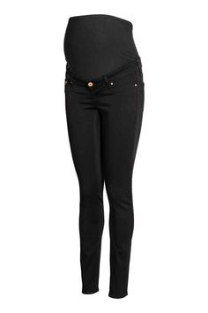 MAMA Shaping Skinny Jeans: Shaping. Jeans in washed denim with technical stretch that holds and shapes the hips, thighs and seat, as well as keeping the jeans in shape. The jeans have ultra-slim legs, fake pockets at the front, real pockets at the back and wide ribbing at the waist for optimum comfort.