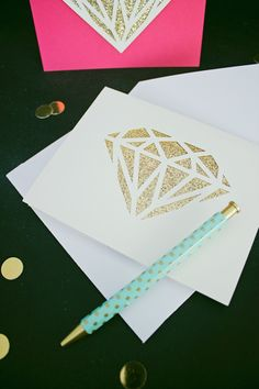 DIY You're a Gem Greeting Card | like-the-cheese.com