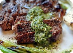 Grilled Argentinian Style Ribeye Steak w/Chimichurri Sauce