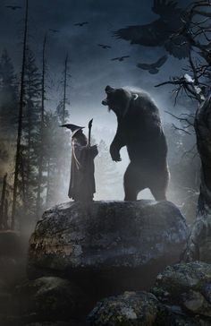 Gandalf and Beorn AHHH I CANT WAIT FOR THE DESOLATION OF SMAUG!!!!! XD